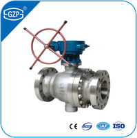 ISO CE Approved Class 150 300 600 900 1500 2500 Pressure Full Bore Trunnion Ball Valve
