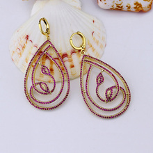 Modern Fashionable Brass Thailand Gold Fine Jewelry Earrings Wholesale