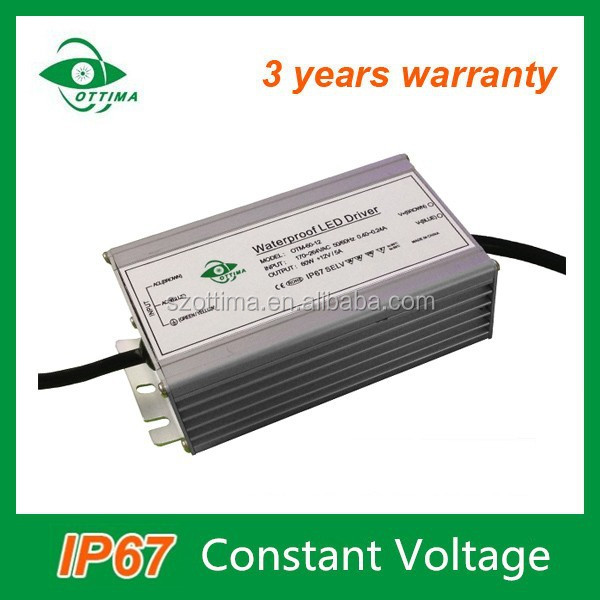 PF 0.95 3 years warranty waterproof constant voltage 70w led driver transformer for led strip light