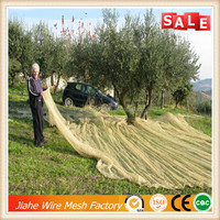 10 years supplier plastic collection olive harvest net,green olive tree harvest net