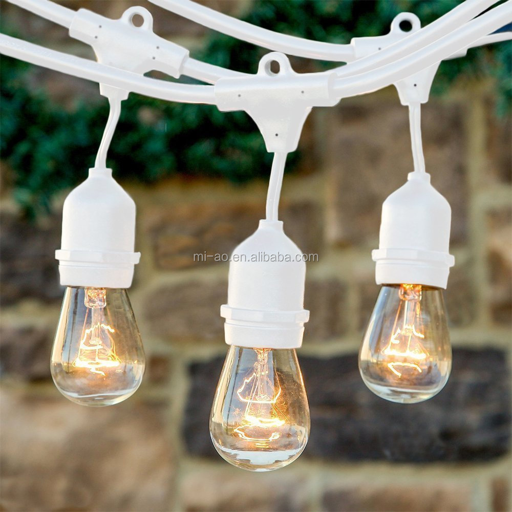Outdoor string lights for patio gorgeous copper wire ROHS CE UL White String Lights