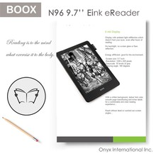 "9.7"" new eink Carta screen N96 Carta+ ebook reader with capacitive touch and digitizer touch"