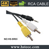 Xerxes Optical RCA Cable to 3.5mm Aux Jack Car Audio Cable