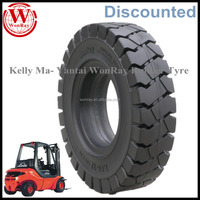 China pneumatic shaped industrial 7.00-12 12pr solid forklift tires for sale