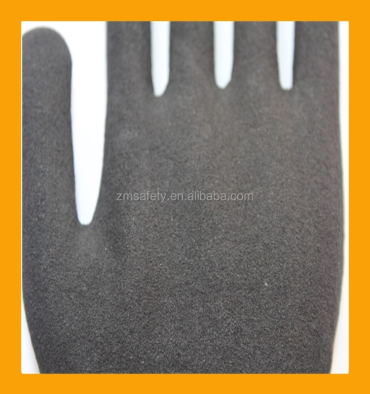 Double Dipped Abrasive Nitrile Cut Protection Gloves HPPE Fiber Knit Gloves