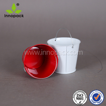 300ml small round metal bucket decorative bucket water container with handle