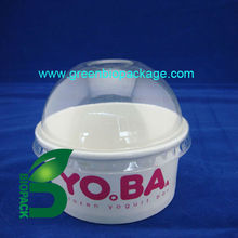 Compostable pla linned paper ice cream cup