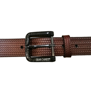 Various Styles High Grade 100% Cowhide Genuine Leather Belts Carbon Fiber Buckle Belts For Man and Woman
