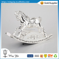 OEM and ODM hot sales Horse Blank Silver Music box for Ornament