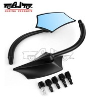 BJ-RM-039 black motorcycle mirrors for victory hyosung kymco motorcycle GY6