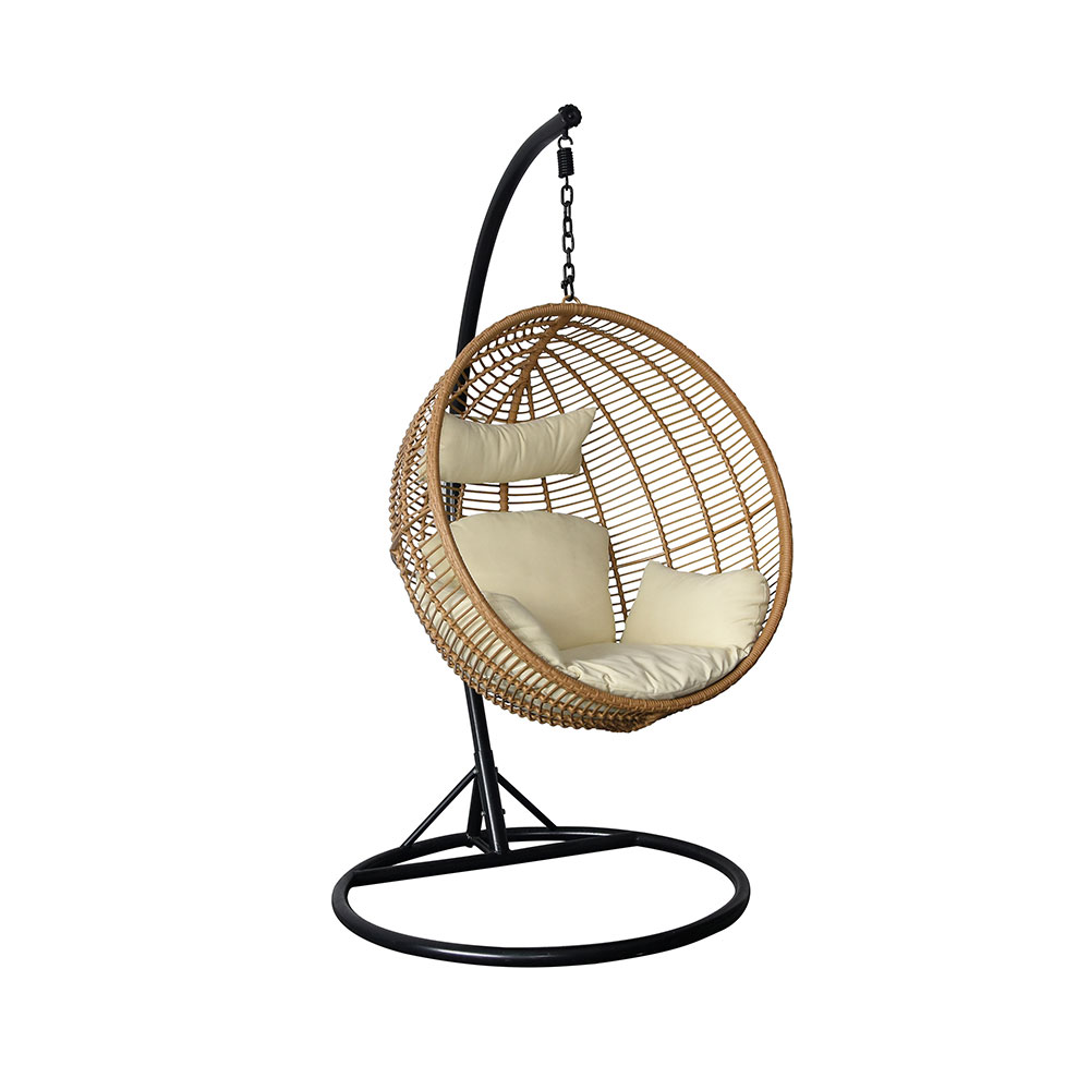 indoor rattan wicker hanging swing egg chair