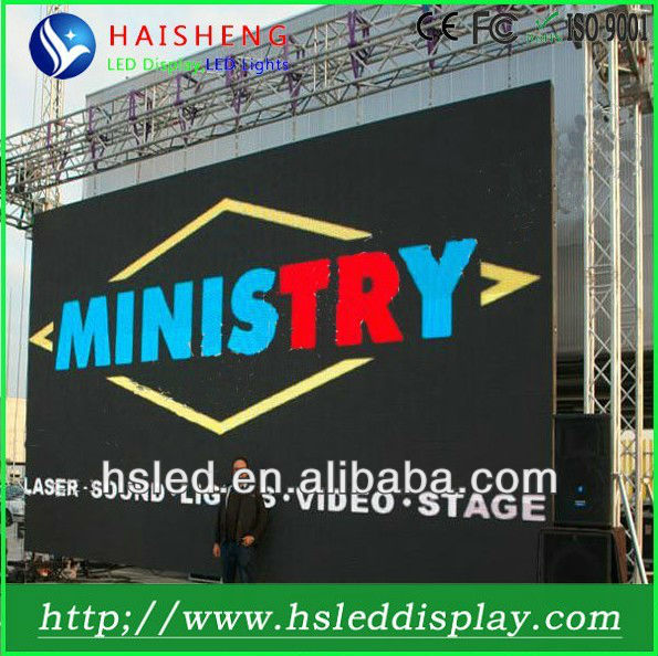 Innovative front accessible-outdoor advertising led pylon sign P16mm with high definition