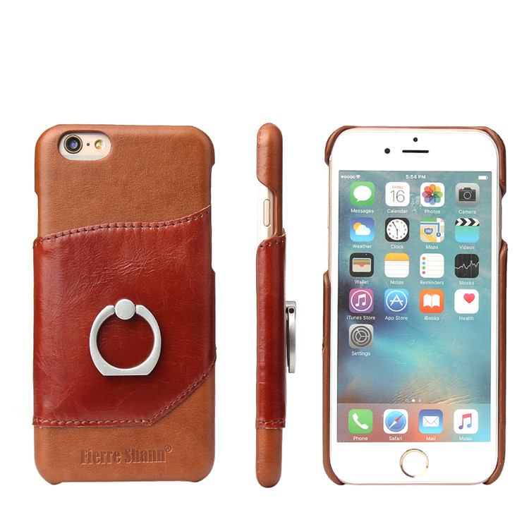 mobile phone accessories for iphone 6 leather phone case