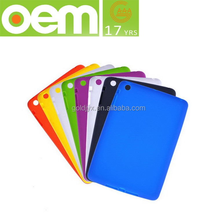 factory OEM cute soft silicone shockproof tablet cover case,cheap price for mini ipad case