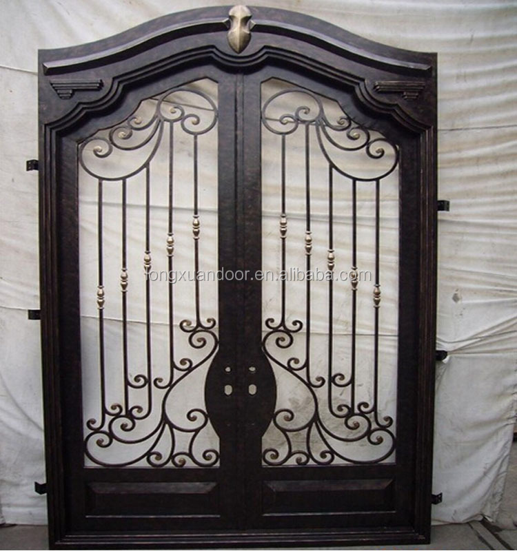 Exterior security doors wrought iron door gate designs