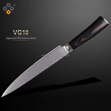 elegant fiberglass handle kitchen tools steel french steak knife