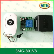 SMG-801 433Mhz Universal Wireless Remote Control Switch DC 12V 24v10A 1CH relay Receiver Module and RF Transmitter 433 Mhz