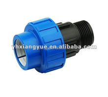 hdpe male adaptor pp compression fittings