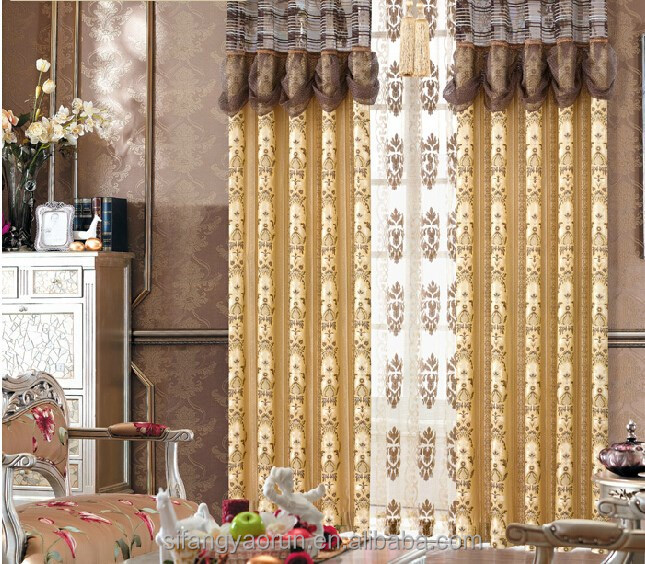 good design India style woven Jacquard curtain