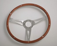 Racing 14'' Laminated Wood riveted Steering Wheel for any Classic Cars and Boats