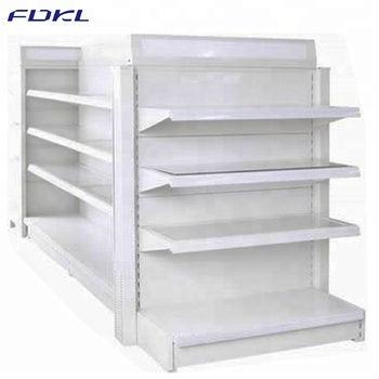 Factory manufactures metal supermarket shelves display stand rack