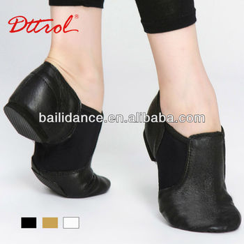 D004716 Dttrol Dance Wholesale Stretch Leather Jazz Shoes