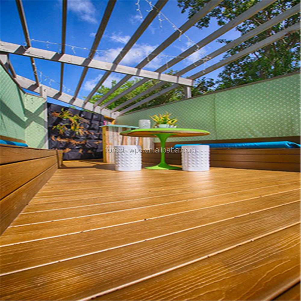 Plastic landscape timbers cheap composite decking terrace for Cheap composite decking