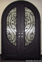 Italy Palamo style luxury and elegant wrought iron double entry door