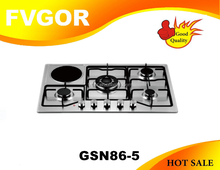 GSN86-5 FVGOR Built in gas cooker gas stove burner head universal gas cooker with 5 burner