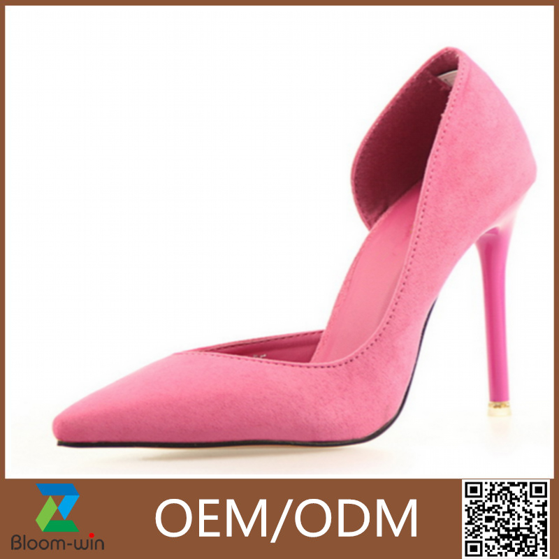 good quality popular metal thin high heel shoes for women made in China