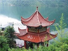 elegant durable ceramic roof shingles glazed antique Chinese style for great buildings