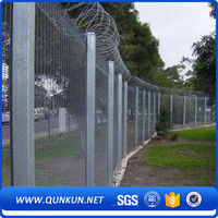 New design best price inexpensive pvc coated clearvu anti climb fence