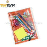 Plastic Clear Zippered Book Cover, Book Cover with Slide Zipper Pocket