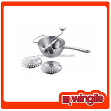 High Quality Stainless steel food vegetable mill with 2 discs
