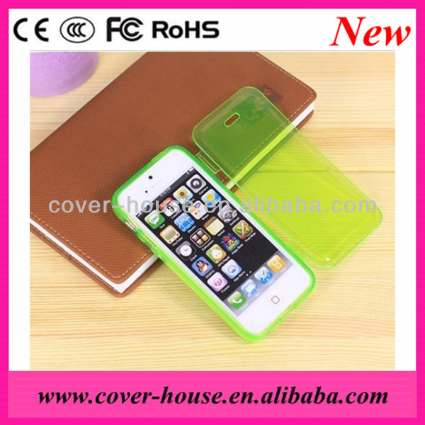 Hot Selling Transparent Flip TPU Case for iPhone 5C