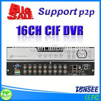 H.264 CIF 16CH DVR with Cloud Technolog, dvr player for dvr download,cctv camera with rj45 cable