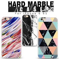2016 new fashion transparent sides hard pc painted marble phone case for iphone 6 6s cover