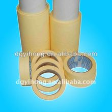 crepe Paper Masking Tape use protection to metal surface, glass, wood , plastic with removing cleanly