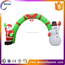 giant outdoor inflatable Christmas arch for advertising