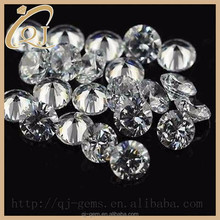 1.4mm cz stone round shape synthetic white cubice zirconia for wedding dress