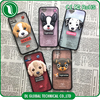 Mobile phone accessories case for iphone 6 plus 3d cartoon phone case of dog design with heart shaped hole for lens