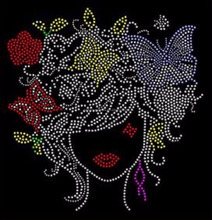 African Butterfly Rhinestone Iron on Transfer