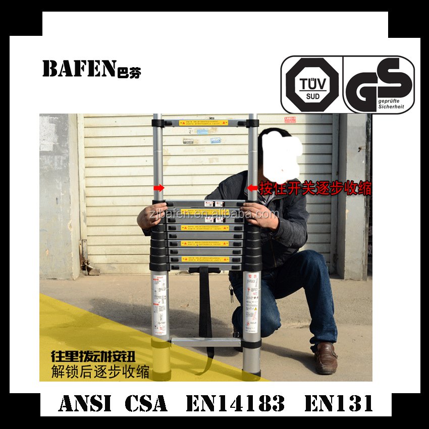 Aluminum Material and Domestic Ladders Type Telescoping Ladder