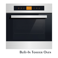 220V 60L Kitchen Built in digital convection toaster oven 595mm height Temperature regulator