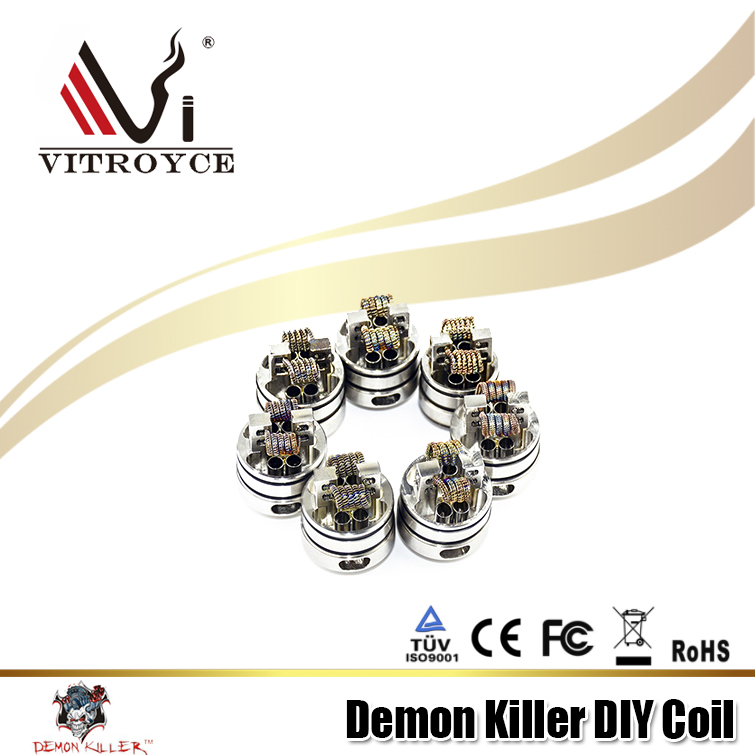 OEM welcomed Factory Demon Killer series vape notch coil 8 in 1 prebuilt coil HOT sale ecig kit