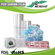 ( SGS FDA)High quality POF packaging film for cosmetic