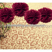 Plum Tissue Pom Pom wedding supplies