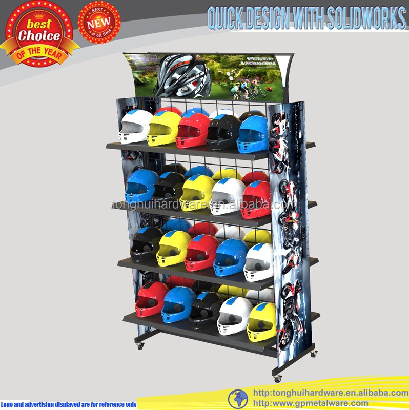 hot sale motorcycle metal helmet rack