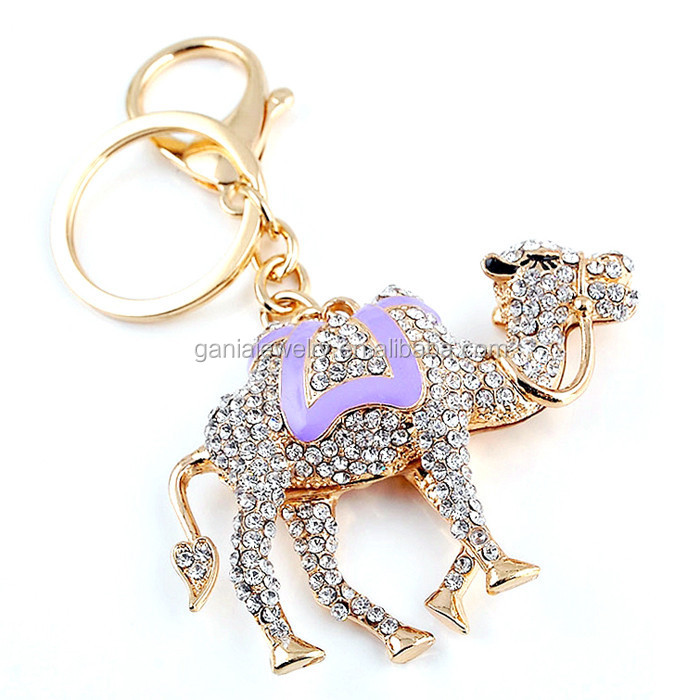 Fashion Animal Camel Jewelry, Rhinestone Camel Key Chain Key Ring Gift