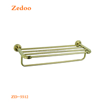 ZD-5512 2016 Hot selling chrome and gold finish barss towel shelf